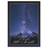 Shooting Stars Over Mount Rainier Holiday Cards
