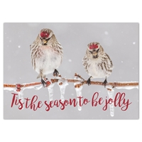 Common Redpolls Holiday Cards