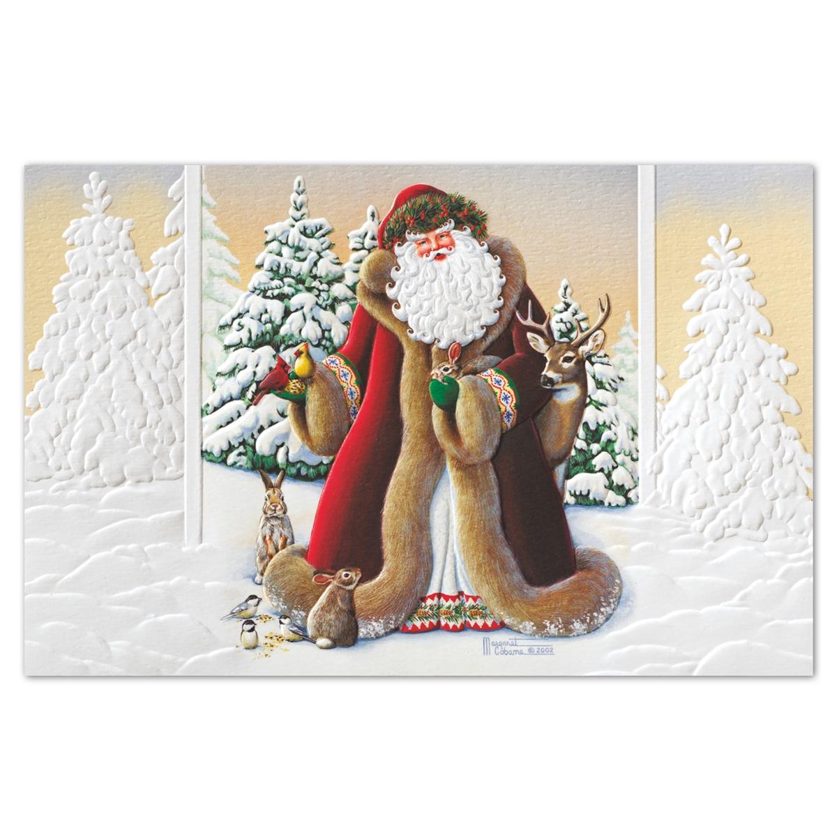 Woodland Santa Holiday Cards