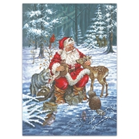 Wildlife Santa Holiday Cards