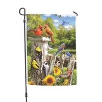 Backyard Birds Garden Flag