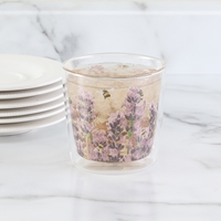 Bees and Lavender Insulated Glass