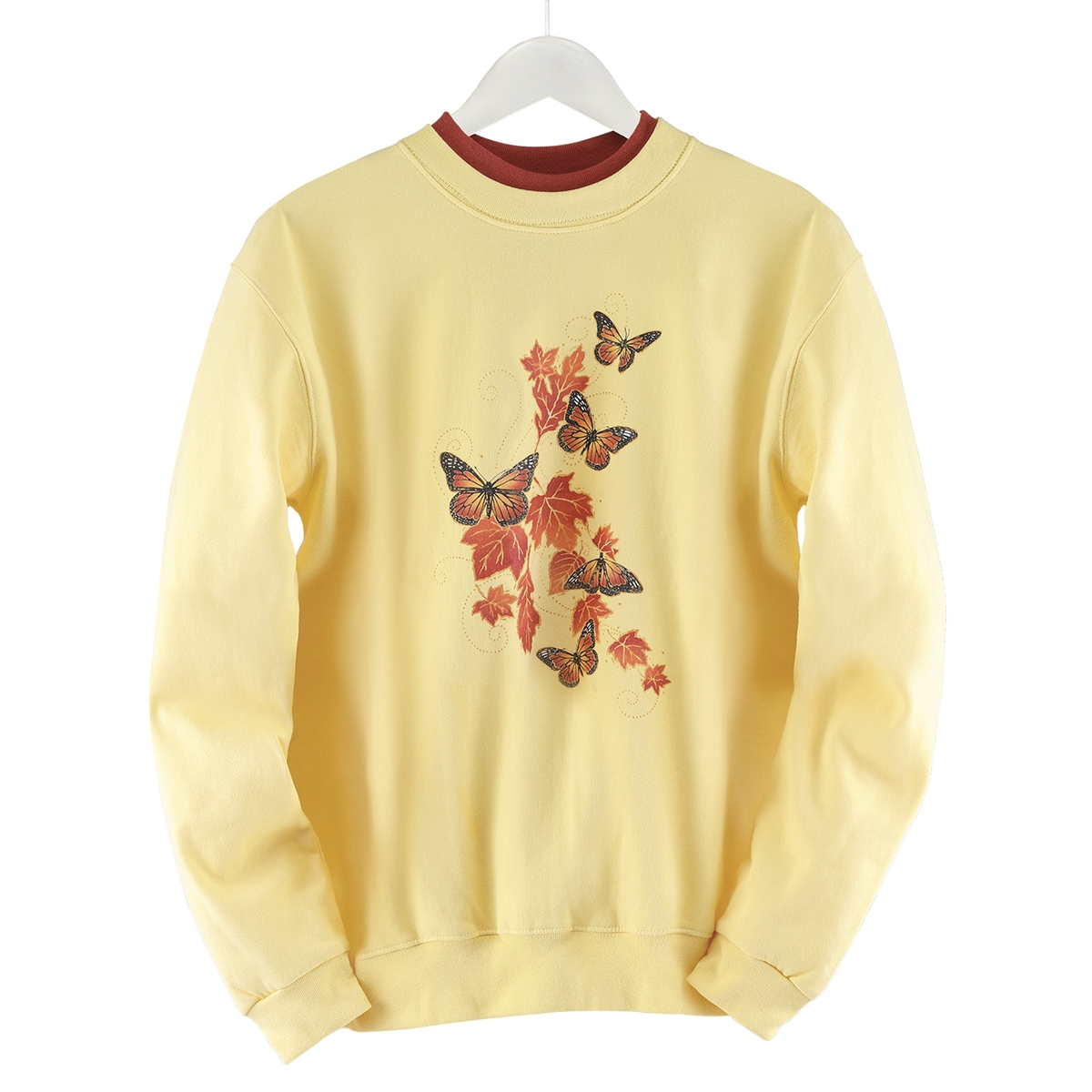 Monarchs and Leaves Pullover
