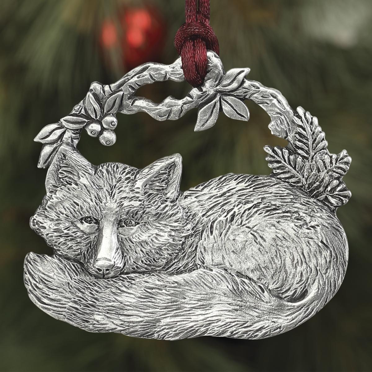 Sleeping Fox Plant a Tree Ornament