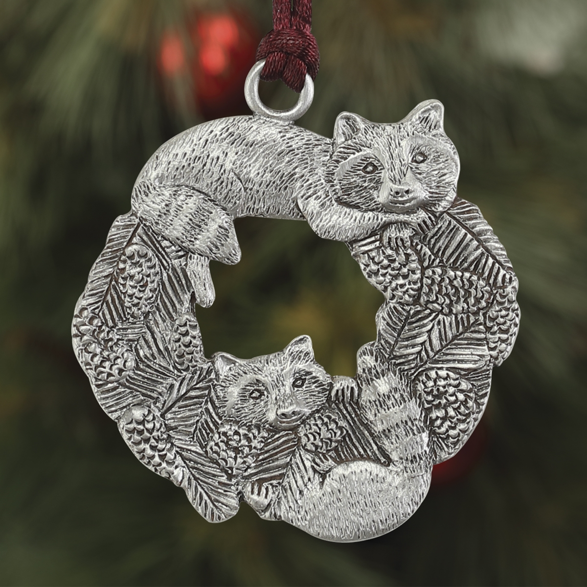 Raccoons Plant a Tree Ornament