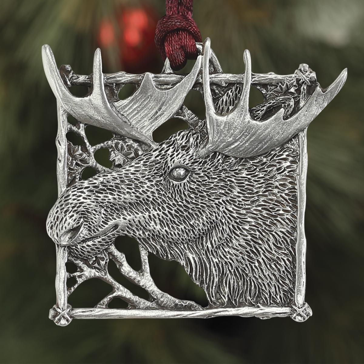 Moose Plant a Tree Ornament