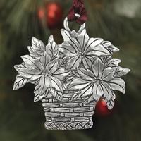 Poinsettia Basket Plant a Tree Ornament