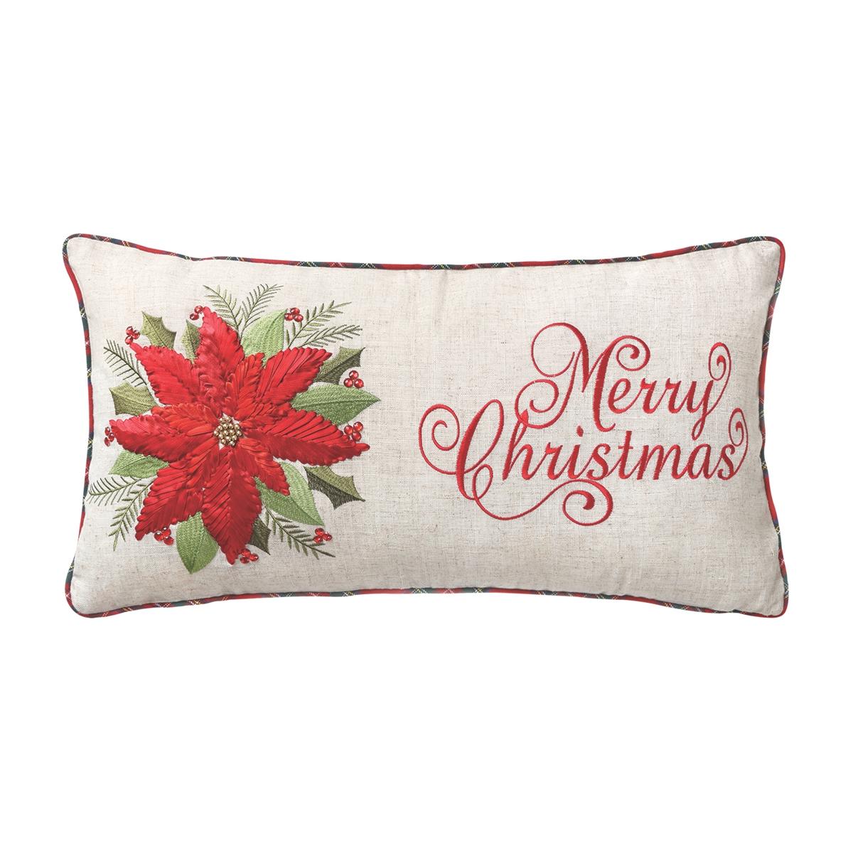 Merry Poinsettia Pillow