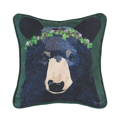 Bear and Clover Pillow
