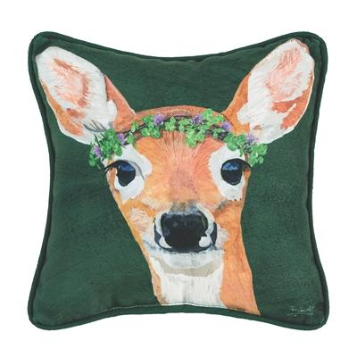 Deer and Clover Pillow