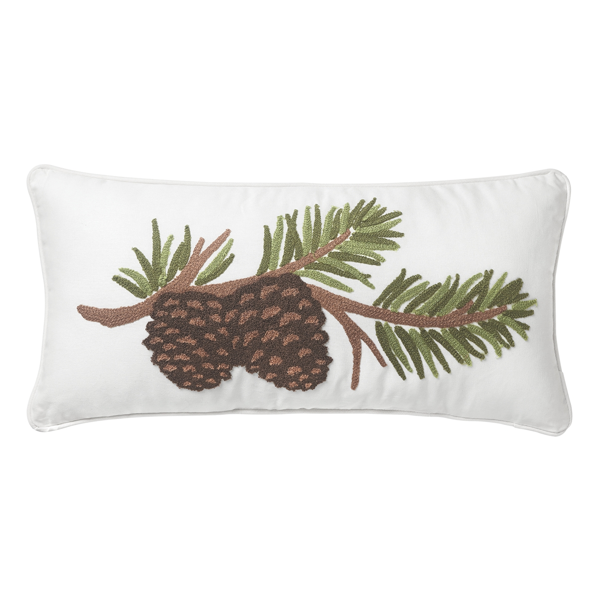 Pine Cone Branch Pillow