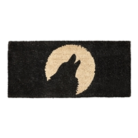 Howling Wolf Coir Mat - Large Size