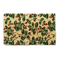 Holly and Berries Coir Mat