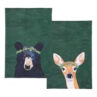 Deer and Bear Towel Set