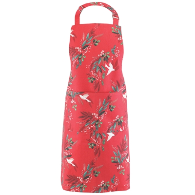 Doves and Holly Apron