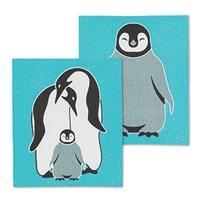 Penguin Family Swedish Dish Cloth Set
