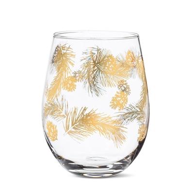Pine Cone Stemless Goblet