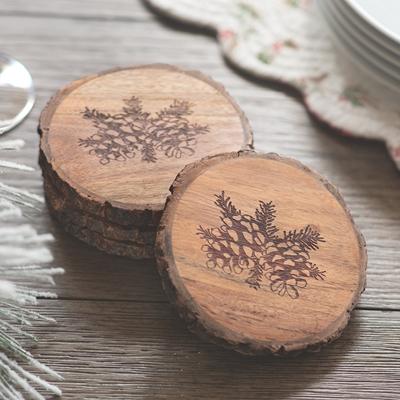 Pine Cone Coasters