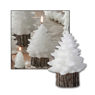 Small Molded Tree Candle
