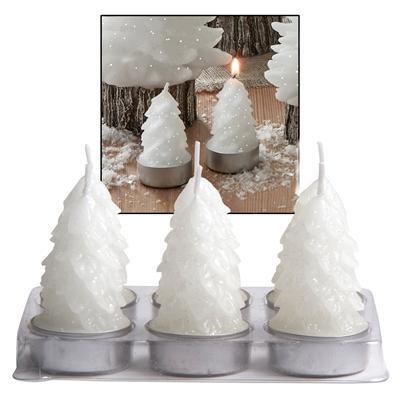Molded Tree Candle Votive Set