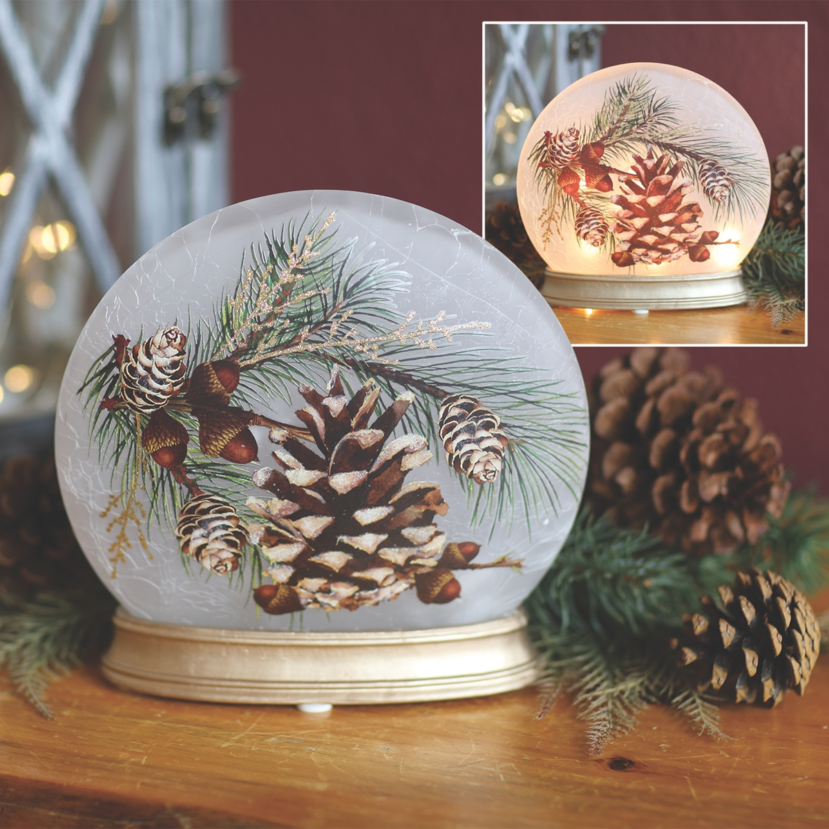 Pine Cone Orb Light
