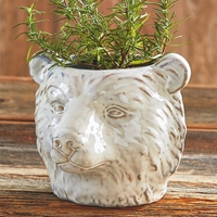 Bear Stoneware Planter
