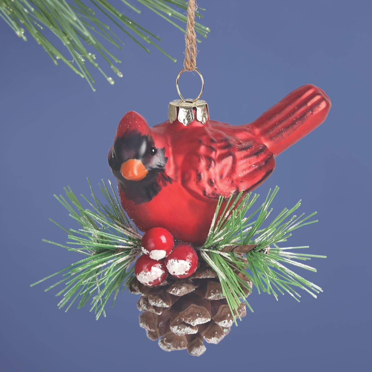 Cardinal Glass Ornament