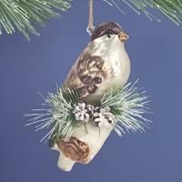Chickadee Glass Ornament