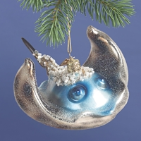 Stingray Glass Ornament