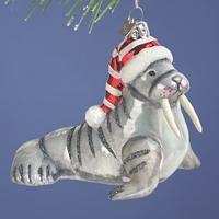 Walrus Glass Ornament