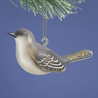 Mockingbird Glass Ornament