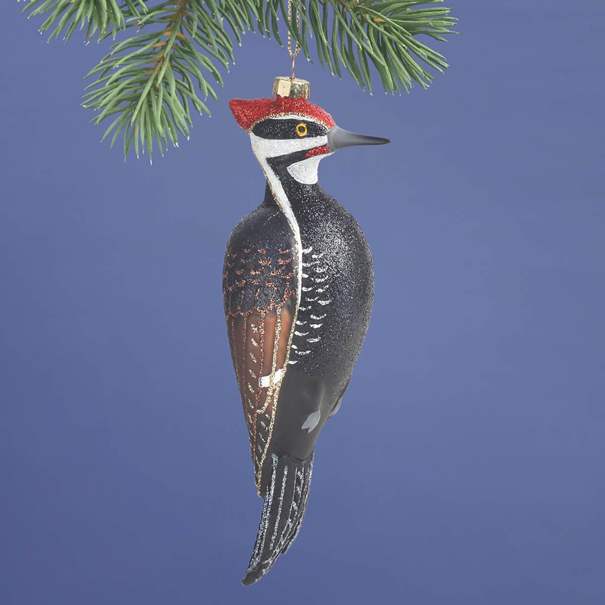 Pileated Woodpecker Glass Ornament