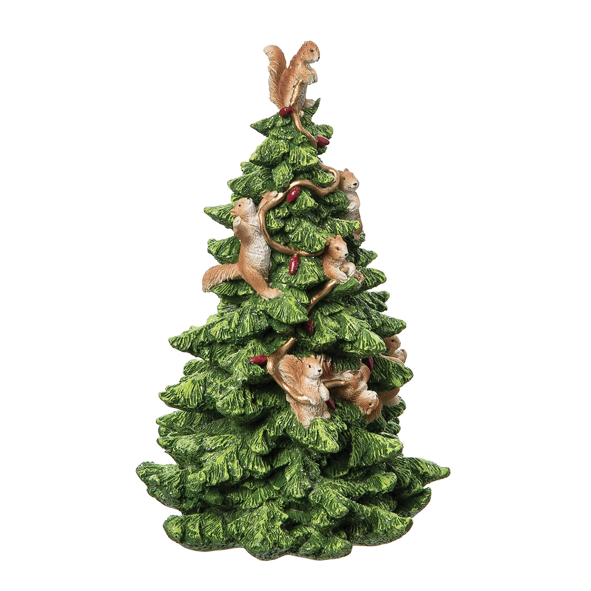Squirrely Tree Figurine