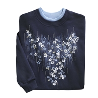 Waterfall Floral Pullover