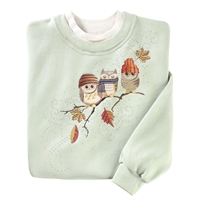 Autumn Hipsters Owl Pullover