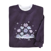 Winter Blooms Pullover
