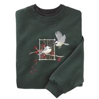 Chickadee Birch Frame Pullover