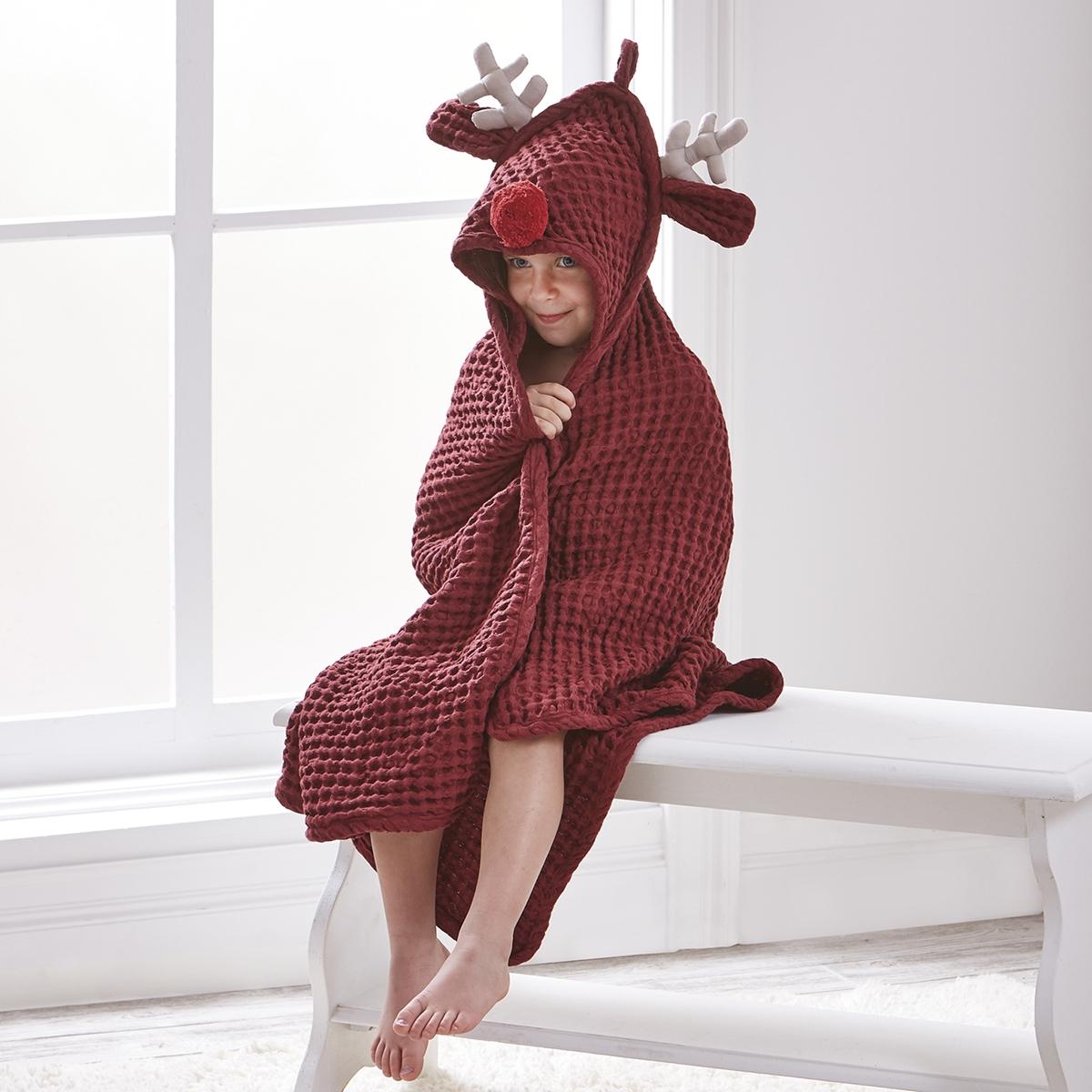 Reindeer Kids Towel