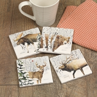 Woodland Winter Coaster Set