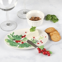 Holly Snack Plate and Spreader