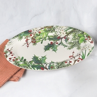 Holly and Berries Oval Platter