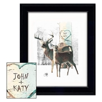 White Tail Love Personalized Print