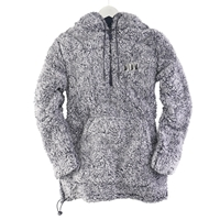 Embroidered Trees Zip Pullover
