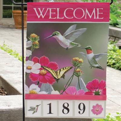 Hummingbirds Address Flag