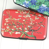 Red Almond Branch Armored Wallet