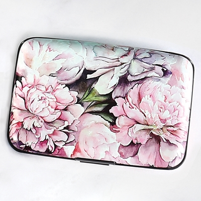 Peonies Armored Wallet