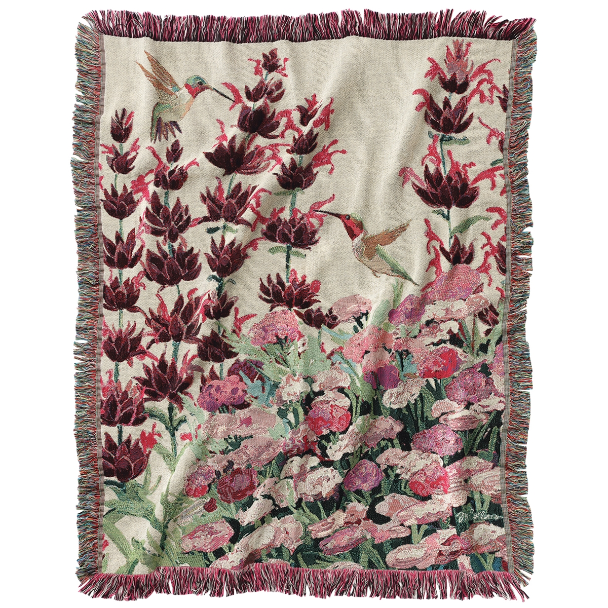 Hummingbird Tapestry Throw