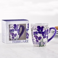 Birthday Flower Mug - February