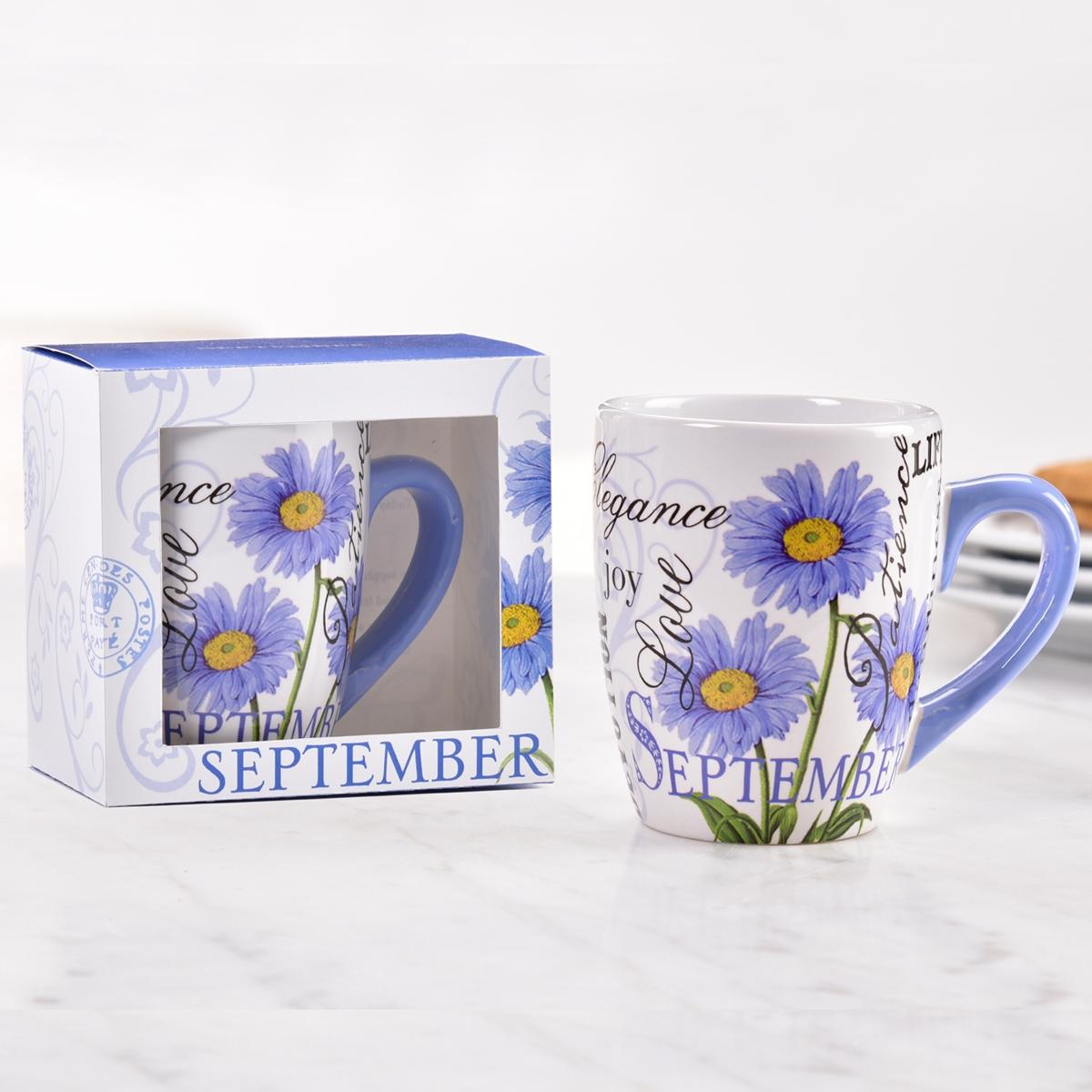 Birthday Flower Mug - September
