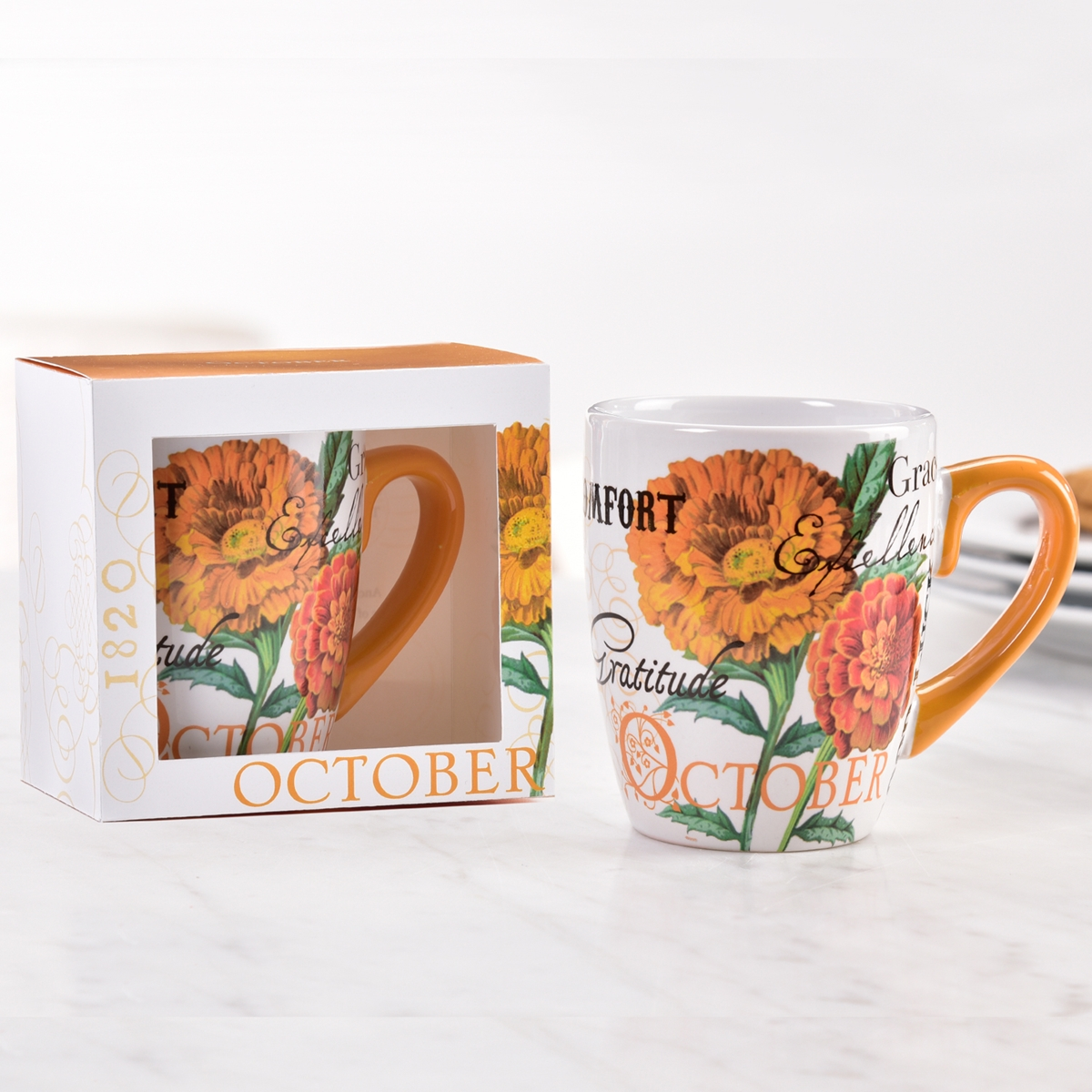 Birthday Flower Mug - October